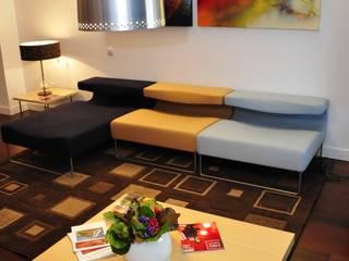 Apartamento Hollwood Residence Salas de estar modernas por Nuno Ladeiro, Arquitetura e Design Moderno