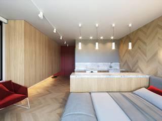 Квартира-студия Гостиная в стиле минимализм от ECOForma Минимализм