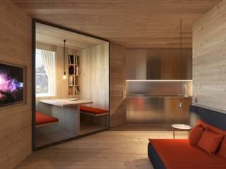 Альпийский дом Гостиная в стиле минимализм от ECOForma Минимализм