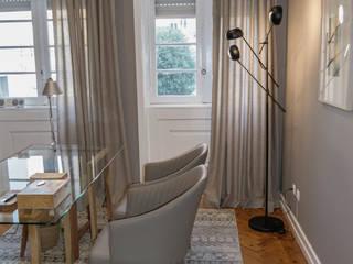 Consultório Psicologia : Escritórios e Espaços de trabalho  por Tangerinas e Pêssegos - Design de Interiores & Decoração no Porto