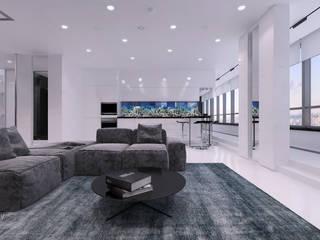 ЖК «Скай Форт» | Residential complex «Sky Fort»: Гостиная в . Автор – Дмитрий Коршунов
