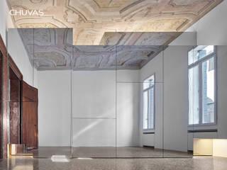 Reabilitação de Palácio em Veneza: Quartos  por CHUVAS arquitectura,Moderno