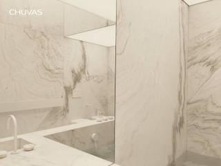 Reabilitação de Palácio em Veneza: Casas de banho  por CHUVAS arquitectura,Moderno