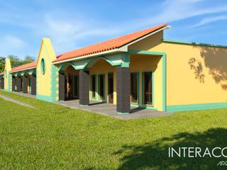 Perspectiva Fachada Lateral: Estudios y oficinas de estilo clásico por Interacción Arquitectos