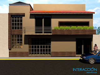 Fachada Principal Exterior: Restaurantes de estilo  por Interacción Arquitectos