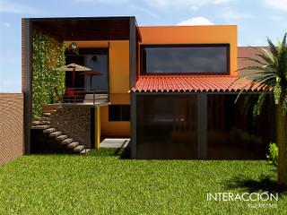 Fachada Interior Trasera: Restaurantes de estilo  por Interacción Arquitectos