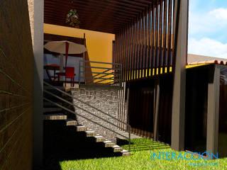 Terraza: Restaurantes de estilo  por Interacción Arquitectos
