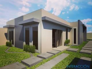 Fachada Interior Frontal: Casas de estilo moderno por Interacción Arquitectos