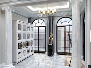 Elegant and modern entrance hall:   by DMR DESIGN AND BUILD SDN. BHD.