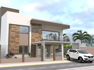 Residência EJ por AT arquitetos Moderno