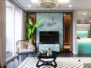 Asian style living room by ICON INTERIOR Asian