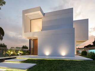 CASA RB1 - Moradia na Vila Utopia - Projeto de Arquitetura: Moradias  por Traçado Regulador. Lda,Moderno