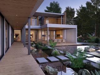 SG2 House - House in Herdade da Aroeira - Portugal - Architectural plan Traçado Regulador. Lda Вілли Бетон Дерев'яні