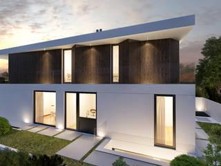 CASA NJ1 - Moradia no Estoril - Projeto de Arquitetura: Moradias  por Traçado Regulador. Lda,Moderno