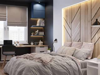 Квартира по ул. Туровского: Спальни в . Автор – Design Service, Скандинавский