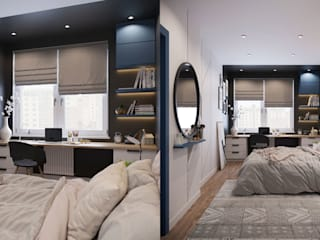 Квартира по ул. Туровского Спальня в скандинавском стиле от Design Service Скандинавский