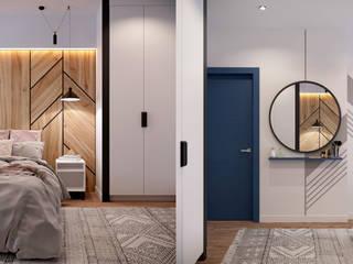 Квартира по ул. Туровского Коридор, прихожая и лестница в скандинавском стиле от Design Service Скандинавский