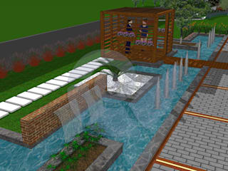 Notilus Peyzaj Tasarım ve Uygulama – Süs Havuzu:  tarz Bahçe