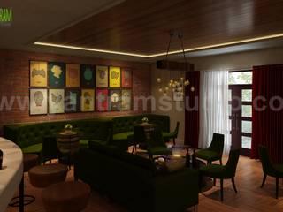 Bar & Restaurant interior design by Yantram 3D Interior Rendering Services - London, UK Modern Oturma Odası Yantram Architectural Design Studio Modern