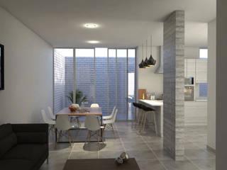 SAN JAVIER Salones modernos de Zona Arquitectura Más Ingeniería Moderno