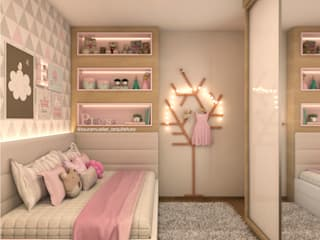 Laura Mueller Arquitetura + Interiores Girls Bedroom MDF Pink