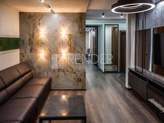 Квартира для luxe12.ru в стиле Хайтек: Гостиная в . Автор – RENDER