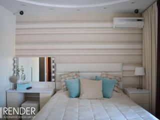 Интерьер спальни в современном стиле: Спальни в . Автор – RENDER, Минимализм