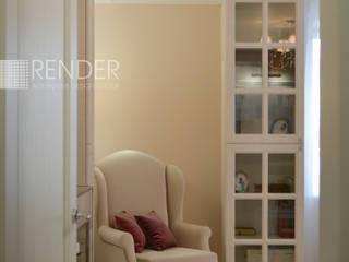 Интерьер квартиры в стиле Ардеко: Гостиная в . Автор – RENDER, Эклектичный