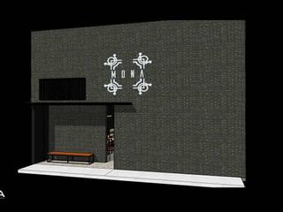 MONA Restaurante: Espacios comerciales de estilo  por MIDA