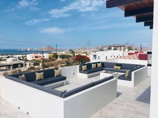 Bancas de exterior: Terrazas de estilo  por Cortinas y Tapices Vanessa