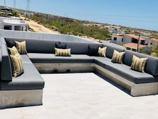 Cojines para exterior Balcones y terrazas modernos de Cortinas y Tapices Vanessa Moderno