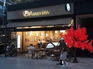 AMORINO Espacios comerciales de estilo rústico de PINEDA ARQUITECTOS S.A DE C.V Rústico