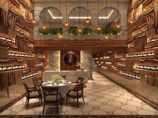 Thiết kế nhà hàng hầm rượu Cheer House:   by Công ty TNHH Ông Kien