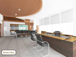 Timber office Ruang Studi/Kantor Modern Oleh Braun Haus Modern
