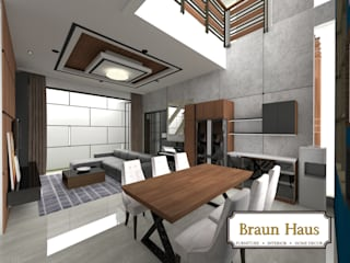 Nowoczesny salon od Braun Haus Nowoczesny