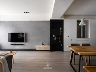 Salas de estilo minimalista de 極簡室內設計 Simple Design Studio Minimalista