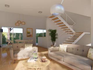 Casa L: Comedores de estilo escandinavo por DST arquitectura