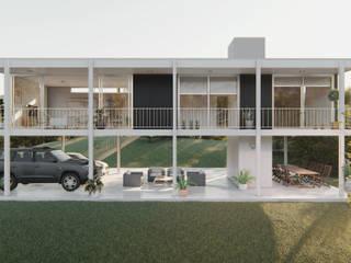 Casa Díaz: Casas de estilo minimalista por DST arquitectura