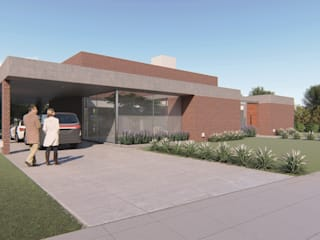 Casa Guevara: Casas de estilo minimalista por DST arquitectura
