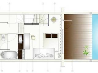 Estudo de Quarto de hotel:   por Nuno Ladeiro, Arquitetura e Design
