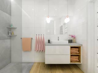 Elegancja połączona z nowoczesnością w łazience. Łazienka 1 - Creatovnia: styl , w kategorii Łazienka zaprojektowany przez Creatovnia