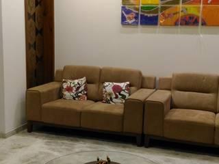 Living Space:  Living room by Tulika Design Studio