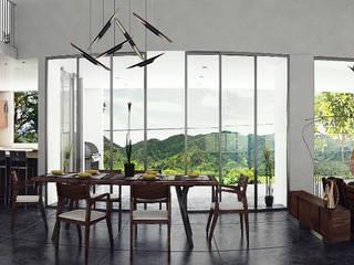 CASA LUQUE Comedores modernos de Zona Arquitectura Más Ingeniería Moderno