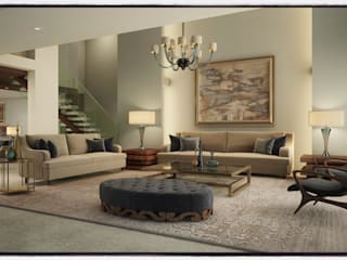 Living Room:   by Innoire Design