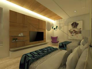 CASA NV01 Dormitorios modernos de Miranda Paez Arquitectura Interior Moderno