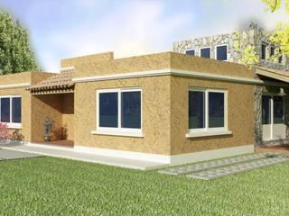 FRENTE: Casas unifamiliares de estilo  por A3 arquitectas - Salta