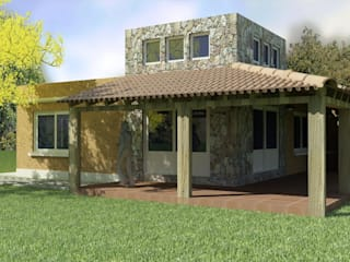 CONTRAFRENTE: Casas unifamiliares de estilo  por A3 arquitectas - Salta