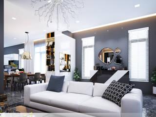 โดย Thiết kế nội thất căn hộ An Phú Decor