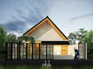 Rumah Ibu Siska SEKALA Studio Rumah tinggal Batu Bata Wood effect