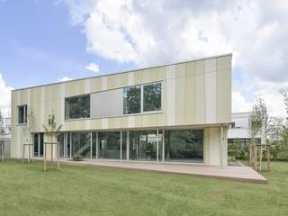 Green House Ansichten Gartenseite:  Einfamilienhaus von KERSCH + HANSEN ARCHITEKTEN